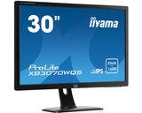 IIYAMA Prolite XB3070WQS - XB3070WQS-B1 - PL3070WQ -30 inch - 2560x1600 - 16:10 - DisplayPort - DVI - HDMI - VGA - AH-IPS - Zwart_