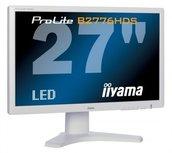 B-KEUZE - IIYAMA Prolite B2776HDS - 27 inch - 1920x1080 - 16:10 - DVI - HDMI - VGA - WIT (Verkleurd)