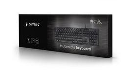 Gembird - Toetsenbord bedraad - USB - zwart