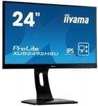 IIYAMA ProLite XUB2492HSU - 24 inch - 1920x1080 - 16:9 - DisplayPort - HDMI - VGA - zwart