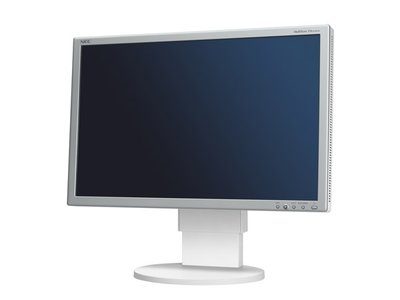 NEC MultiSync EA241WM - 24 inch - 1920x1200 - 16:10 - DVI-D - VGA - Zilver/Wit